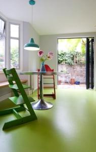 piso-liso-colorido-verde
