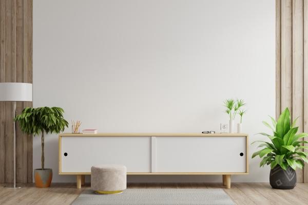tendência de móveis - rack minimalista